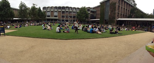Lunch Time at the Library Lawn