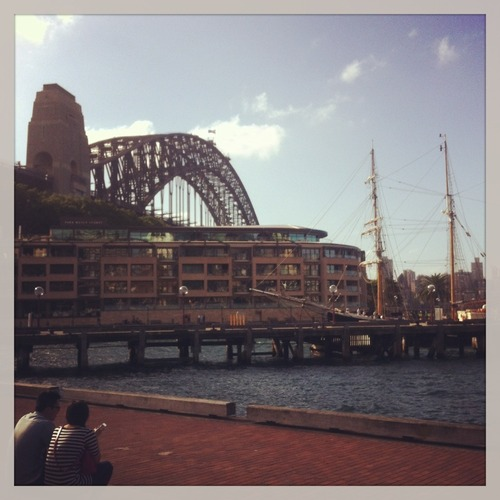 Chilling at Circular Quay